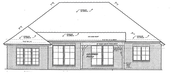 Traditional House Plan 66207 Rear Elevation