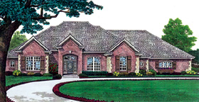 Traditional House Plan 66208 with 3 Beds, 3 Baths, 3 Car Garage Elevation