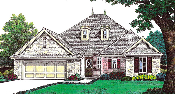 Traditional House Plan 66209 Elevation