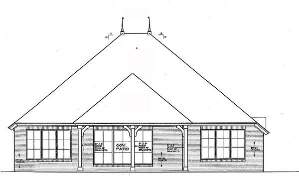 Traditional House Plan 66209 Rear Elevation