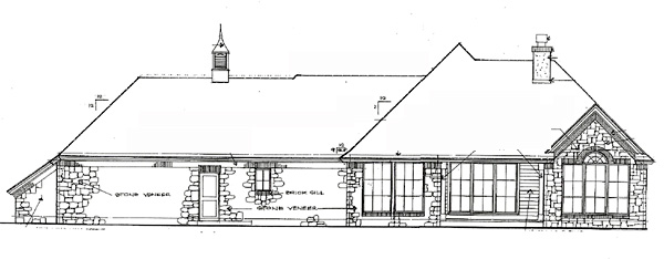 Traditional House Plan 66210 Rear Elevation