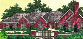 House Plan 66215 | Style Plan with 2763 Sq Ft, 3 Bedrooms, 2 Bathrooms, 3 Car Garage Elevation