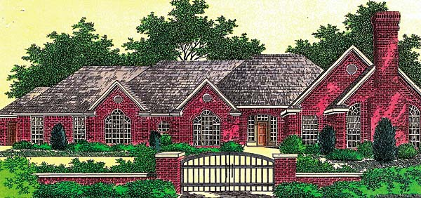 House Plan 66215 Elevation