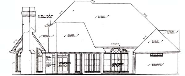 House Plan 66216 Rear Elevation