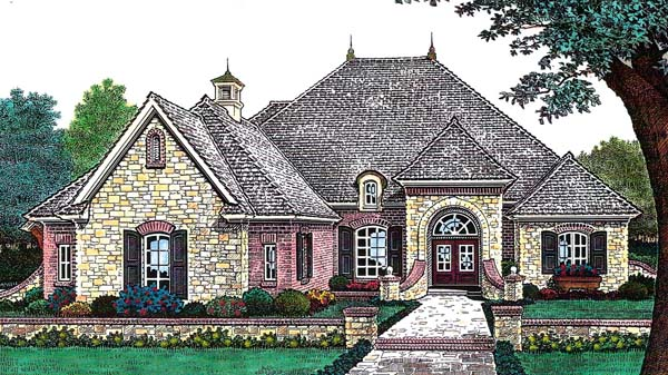 House Plan 66217 Elevation
