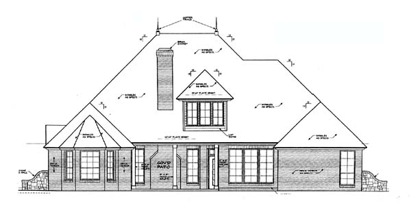 House Plan 66217 Rear Elevation