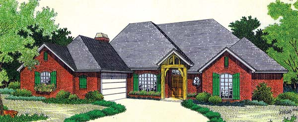 House Plan 66218 Elevation