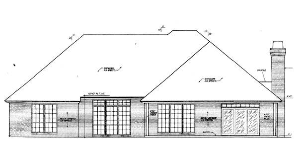 House Plan 66218 Rear Elevation