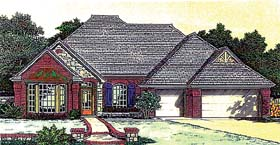 House Plan 66219 with 4 Beds, 3 Baths, 3 Car Garage Elevation