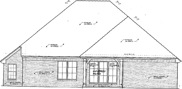 House Plan 66221 Rear Elevation