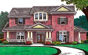 House Plan 66222 | Style Plan with 2688 Sq Ft, 4 Bedrooms, 4 Bathrooms, 3 Car Garage Elevation