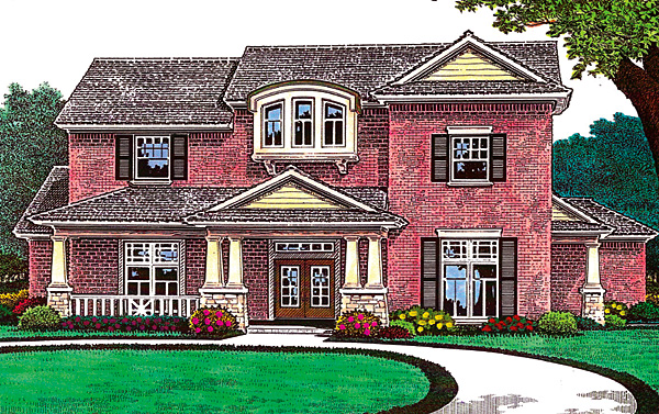 House Plan 66222 Elevation