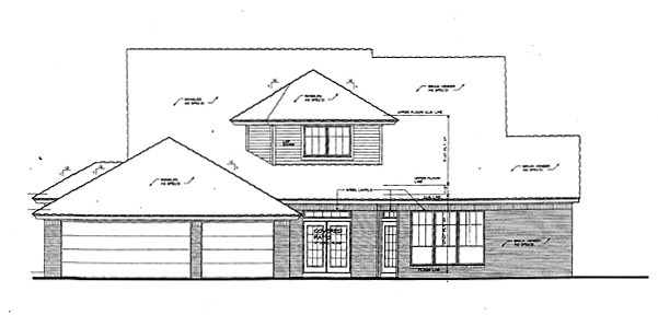 House Plan 66222 Rear Elevation