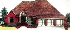House Plan 66224 with 3 Beds, 3 Baths, 3 Car Garage Elevation