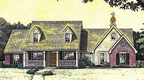 House Plan 66228 with 3 Beds, 2 Baths, 2 Car Garage Elevation