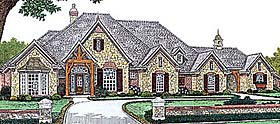 House Plan 66234 | Southern Style Plan with 3428 Sq Ft, 4 Bedrooms, 4 Bathrooms, 3 Car Garage Elevation