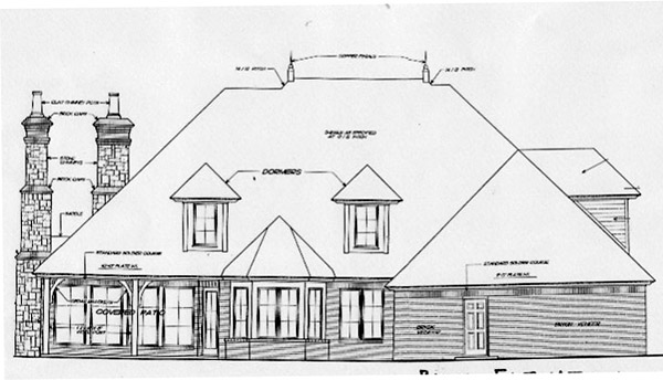 Country French Country Southern House Plan 66238 Rear Elevation