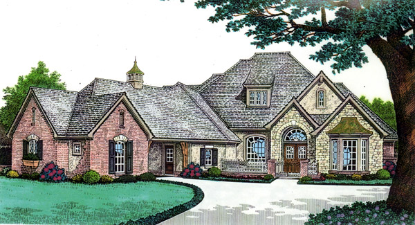 House Plan 66239 | Country Southern Style Plan with 3417 Sq Ft, 4 Bedrooms, 4 Bathrooms, 3 Car Garage Elevation