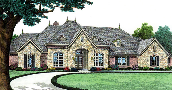 Southern Elevation of Plan 66240