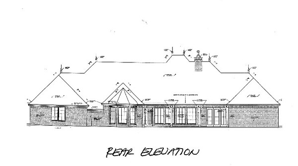 Southern Rear Elevation of Plan 66240