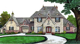 Country French Country House Plan 66243 Elevation