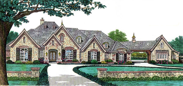 European French Country House Plan 66248 Elevation