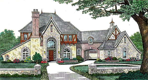French Country, Southern House Plan 66249 with 4 Beds, 5 Baths, 3 Car Garage Elevation