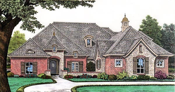 European House Plan 66251 Elevation