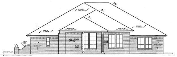 Country European House Plan 66252 Rear Elevation