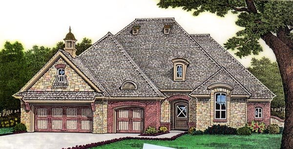 European House Plan 66253 Elevation