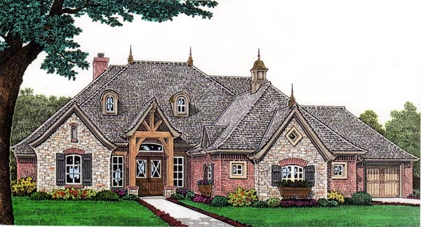 European House Plan 66255 with 4 Beds, 5 Baths, 3 Car Garage Elevation