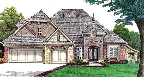 European House Plan 66257 Elevation