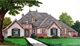 European House Plan 66258 Elevation