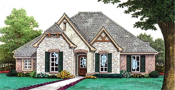 Country European House Plan 66259 Elevation