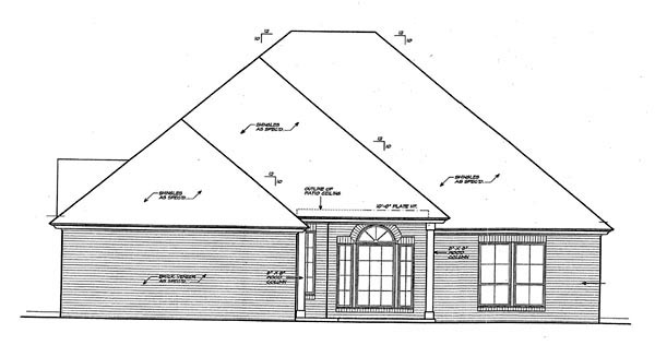 Country European House Plan 66259 Rear Elevation
