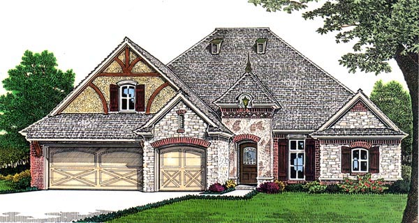 European House Plan 66260 Elevation