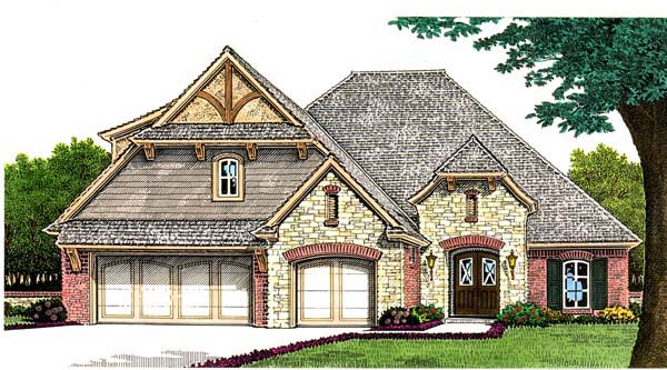 Tudor House Plan 66261 Elevation