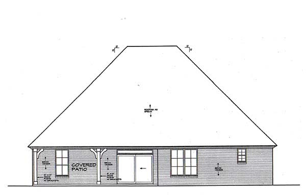 Tudor House Plan 66261 Rear Elevation