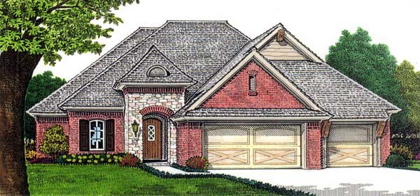 European House Plan 66262 Elevation