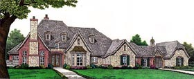 European House Plan 66263 Elevation