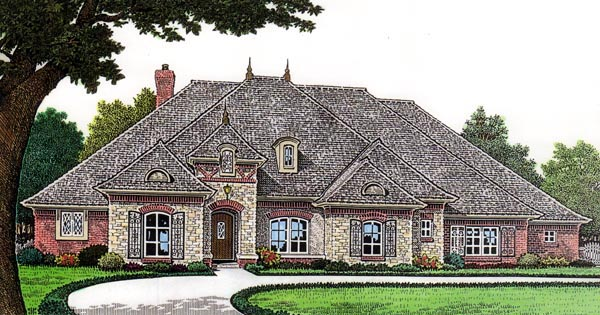 European House Plan 66265 Elevation