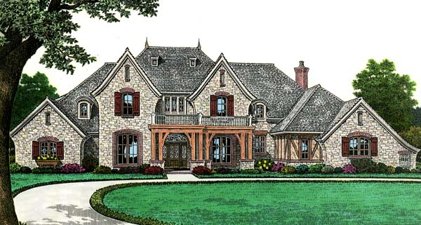 House Plan 66267 | European French Country Style Plan with 4392 Sq Ft, 4 Bedrooms, 4 Bathrooms, 3 Car Garage Elevation