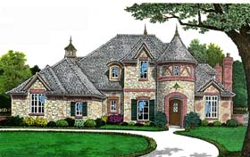 European French Country House Plan 66268 Elevation