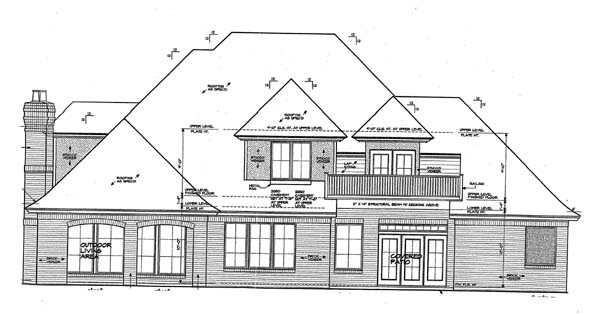 European French Country House Plan 66268 Rear Elevation