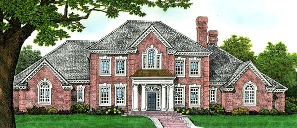 House Plan 66270 | European French Country Style Plan with 4462 Sq Ft, 4 Bedrooms, 4 Bathrooms, 4 Car Garage Elevation