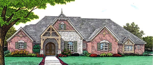 Country European House Plan 66272 Elevation