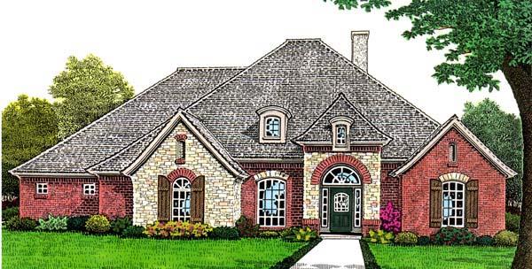 European House Plan 66273 Elevation