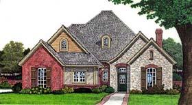 European House Plan 66275 Elevation