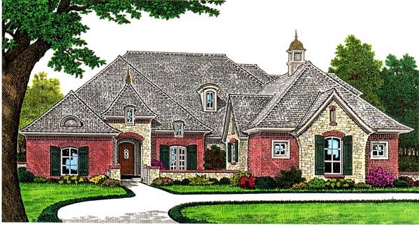 European House Plan 66276 Elevation