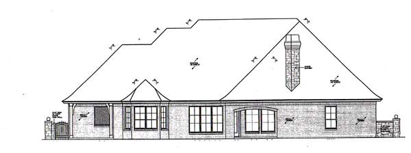 European House Plan 66276 Rear Elevation